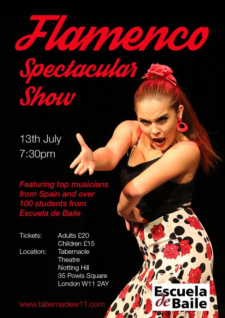Flamenco Spectacular Show 13th July in London