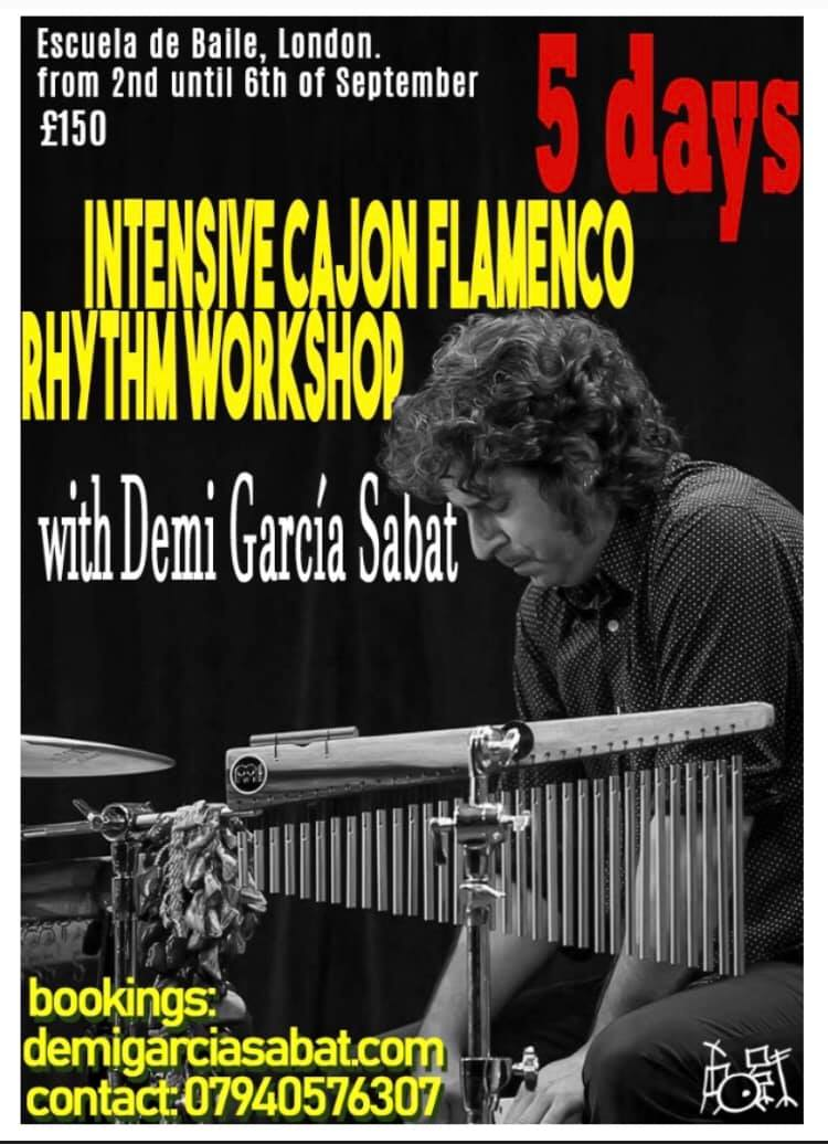 Demi Garcia 5 Day Cajon Flamenco Rhythm Workshop September 2019